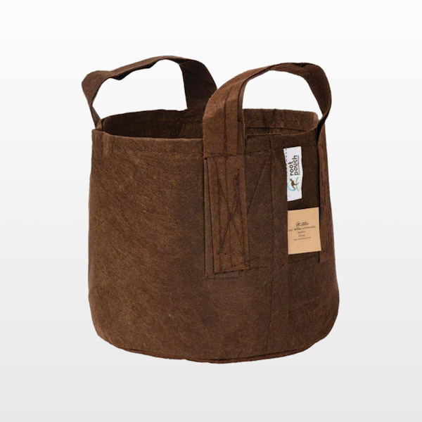 Root Pouch Boxer Brown Line Fabric Pots